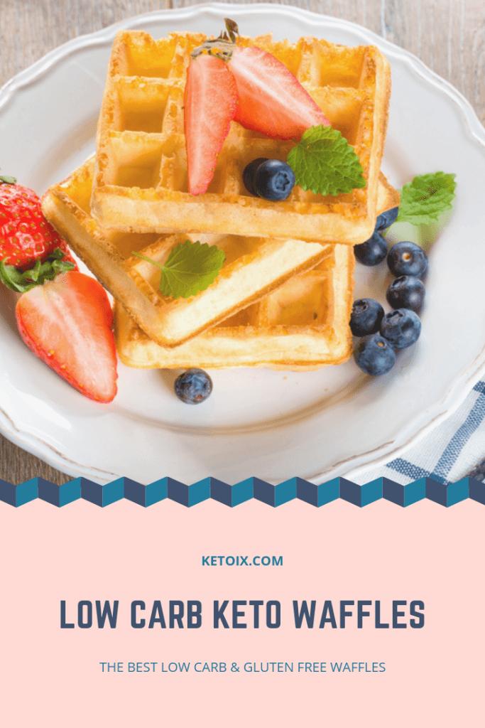 Keto Waffle Pinterest Pin Image