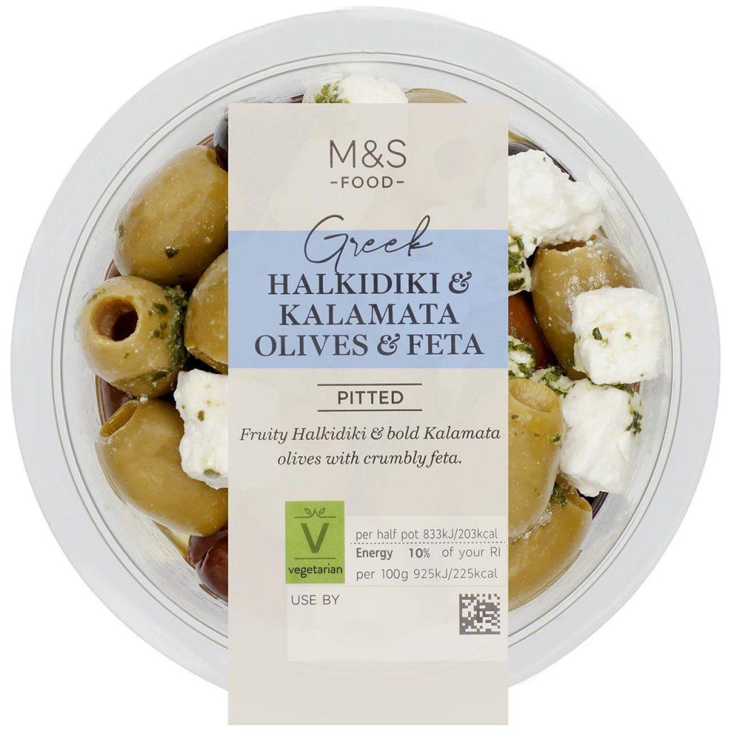 M&S Halkidiki Kalamata Olives & Feta