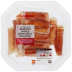 M&S Serrano Ham & Manchego Cheese Rolls