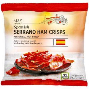 Serrano ham crisps