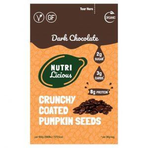 Nutrilicious Dark Chocolate Pumpkin Seeds