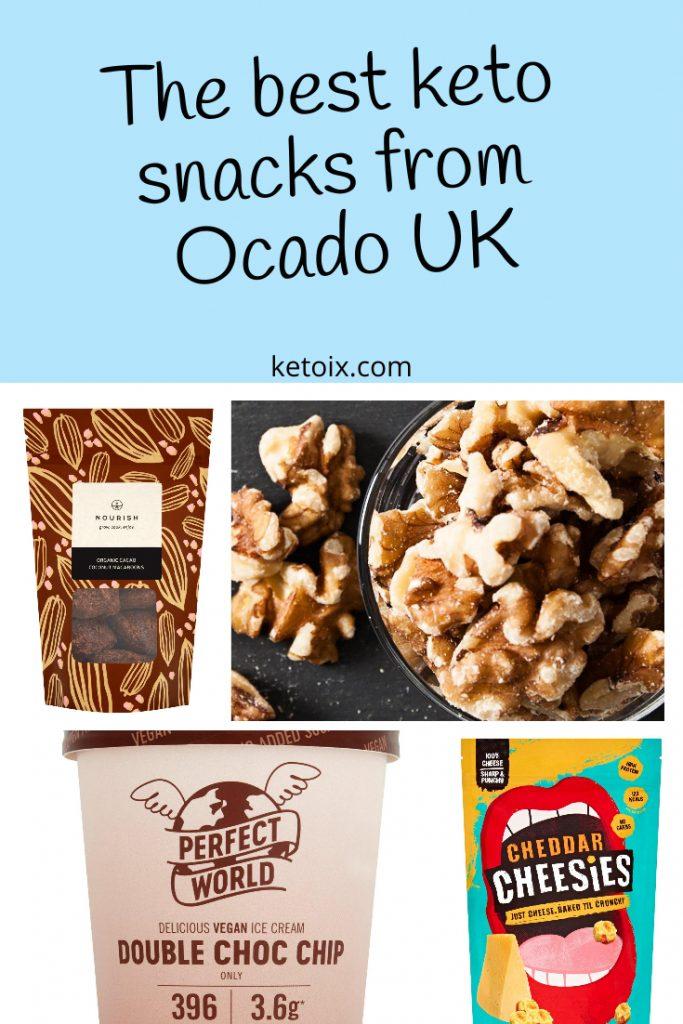 Pin: The best keto snacks from ocado UK